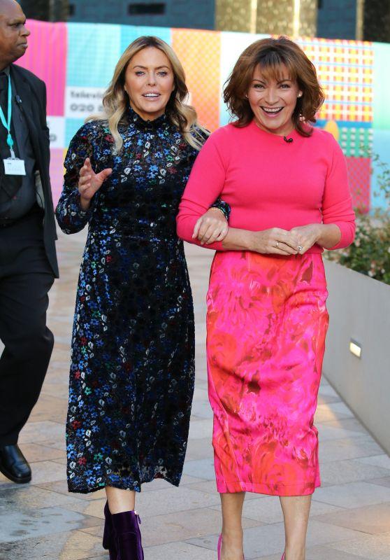 Lorraine Kelly and Patsy Kensit - Outside ITV Studios in London 10/01/2018