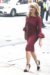 Madchen Amick - Arriving to BUILD Studios in NYC 10/08/2018