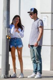 Madison Beer Leggy in Jeans Shorts 10/20/2018