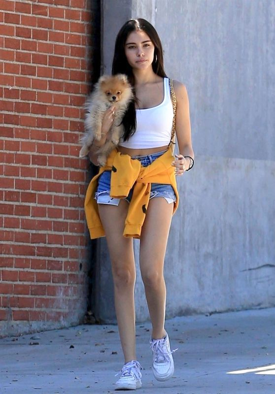 Madison Beer - Taking Her Puppy to the Park in West Hollywood 10/16/2018