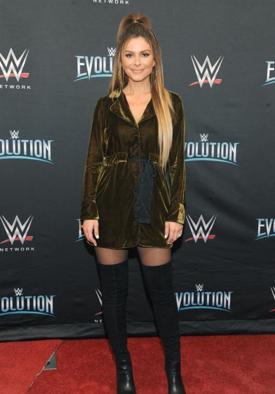 Maria Menounos - WWE Evolution in New York 10/28/2018