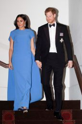 Meghan Markle and Prince Harry at a State Dinner in Suva, Fiji