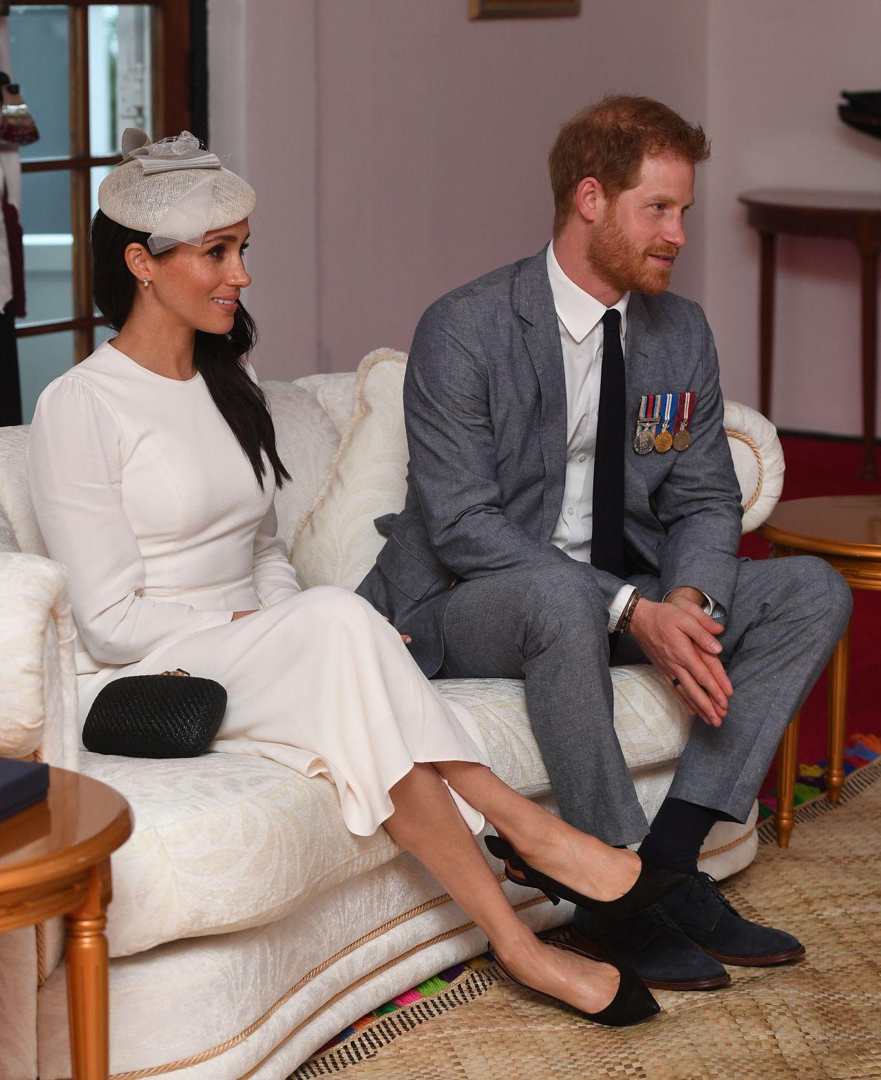 Meghan Markle And Prince Harry At Borron House In Suva, Fiji