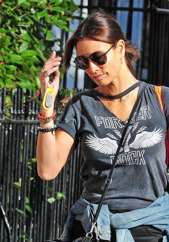 Melanie Sykes - Shopping in Hampstead, London