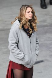 Melissa Benoist on the Set of Supergirl in Vancouver 10/30/2018