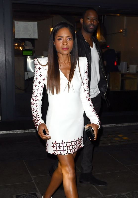 Naomie Harris Night Out Style - Groucho Club in London 10/03/2018