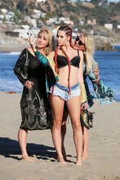 Nikki Lund With Daughter Ashley Bringthon - Beach Photoshoot in Malibu 10/16/2018