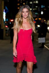 Nina Agdal Arriving at Intermix Party in NYC 10/18/2018