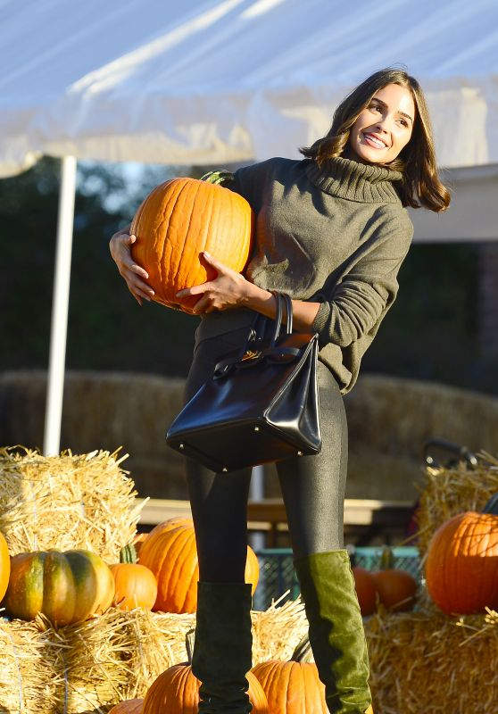 Olivia Culpo Picking Out Pumpkins in LA 10/26/2018