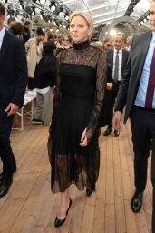 Princess Charlene of Monaco - Akris Show at the Paris Fashion Week 09/30/2018