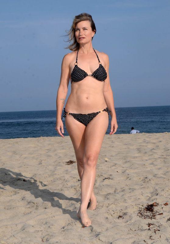 Rena Riffel in Polka Dot Bikini at Malibu Beach 10/14/2018