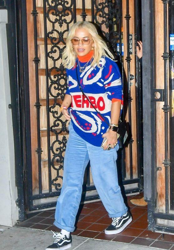Rita Ora at Matsuhisa Restaurant in West Hollywood 10/14/2018