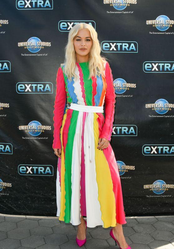 "Rita Ora - ""Extra"" at Universal Studios Hollywood in Universal City 10/08/2018"