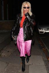 Rita Ora - Leaving a Recording studio in Westminster 10/18/2018