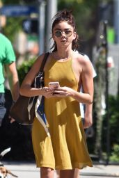 Sarah Hyland in a Yellow Dress - Los Angeles 09/30/2018