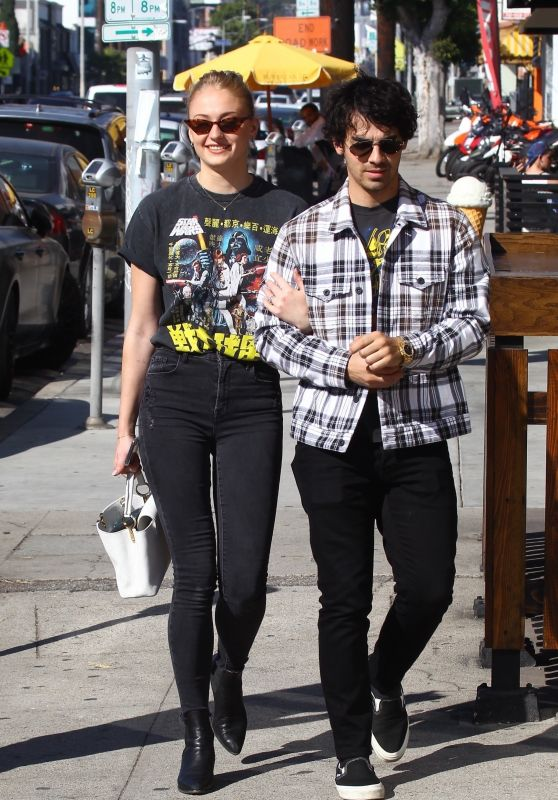 Sophie Turner and Joe Jonas Out in West Hollywood 10/27/2018