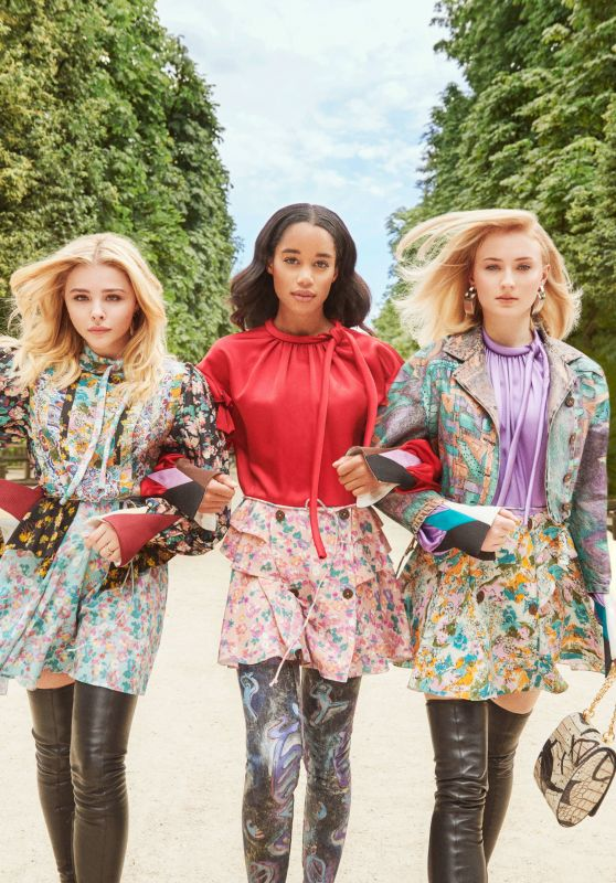Sophie Turner, Chloe Grace Moretz and Laura Harrier - InStyle: Louis Vuitton