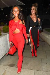 Stephanie Davis, Jennifer Metcalfe and Chelsee Healey at Menagerie Restaurant & Bar in Manchester