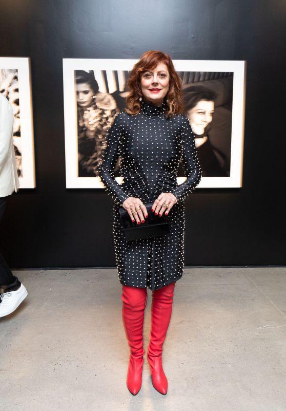 Susan Sarandon - Assemblage Lenny Kravitz Exhibition in NY 09/28/2018