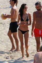 Alessandra Ambrosio in Bikini - Beach in Pacific Palisades 11/06/2018