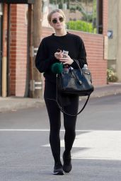 Ashlee Simpson in All Black Outfit 11/16/2018