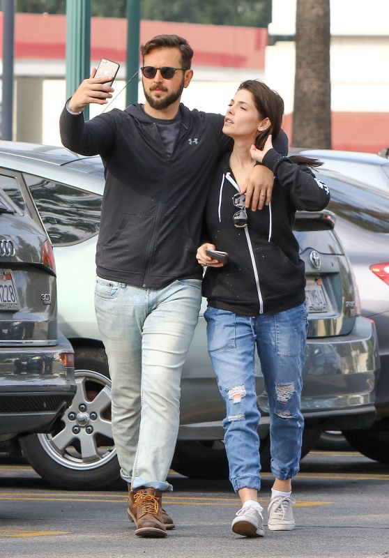 Ashley Greene and Husband Paul Khoury - Grocery Shopping in LA 11/21/2018