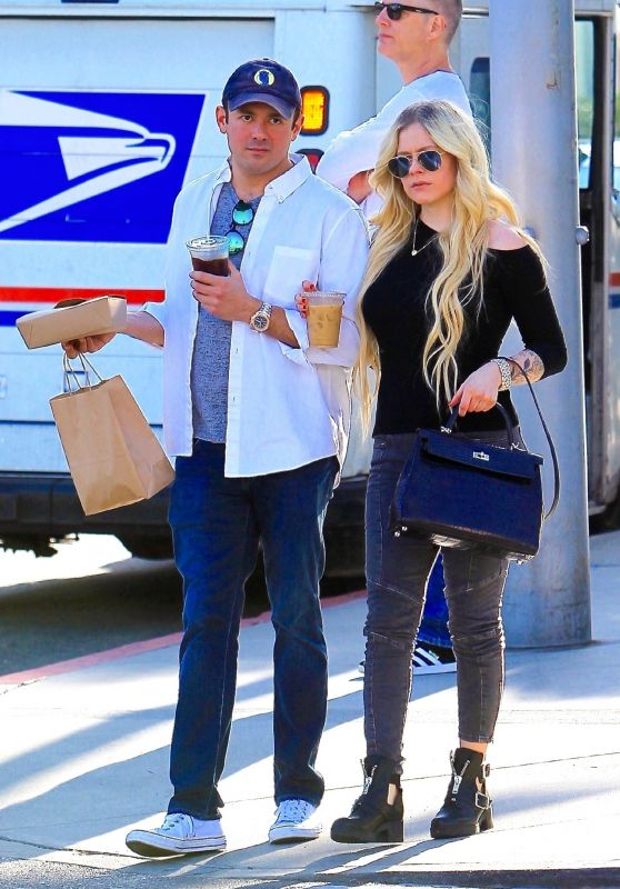 Avril Lavigne and Phillip Sarofim Out in Beverly Hills 11/06/2018