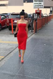 Bai Ling in a Red Dress - Outside Avalon in Hollywood 11/10/2018
