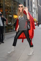 Behati Prinsloo - Arriving at the VS Offices in NY 11/07/2018