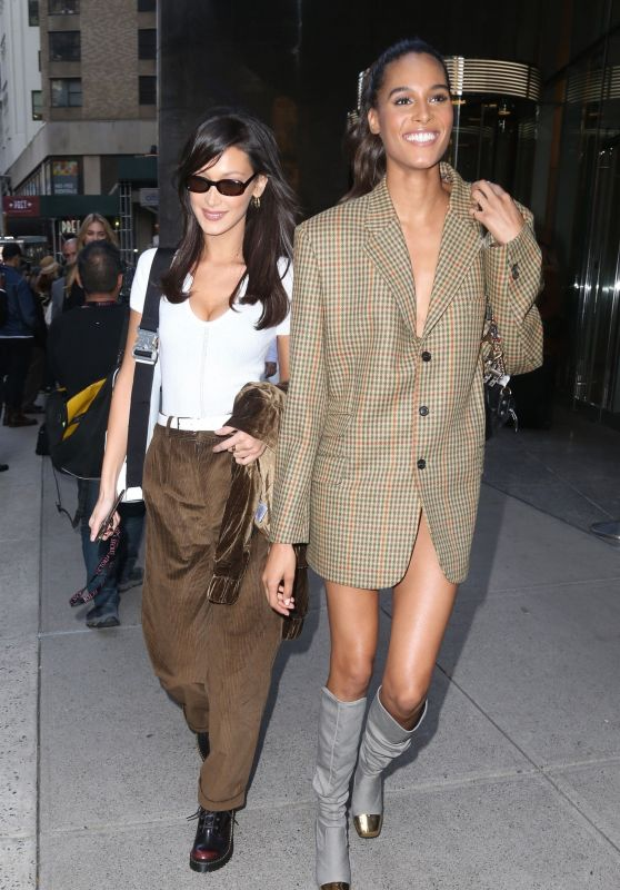 Bella Hadid and Cindy Bruna - Outside VS Office in NYC 11/07/2018