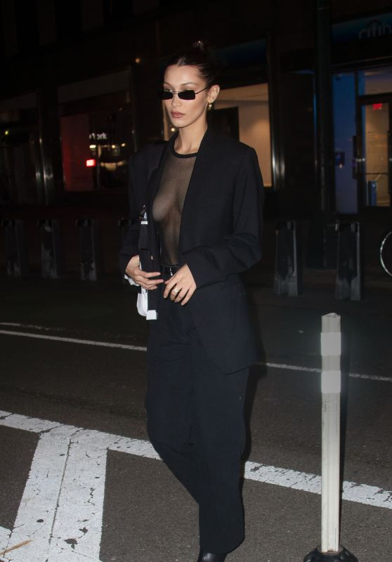 Bella Hadid Night Out Style - New York 11/04/2018