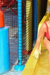 Billie Faiers in Swimsuit at a Water Park in Dubai, November 2018