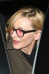 Cate Blanchett - Leaving the SOHO Hotel in London 11/22/2018