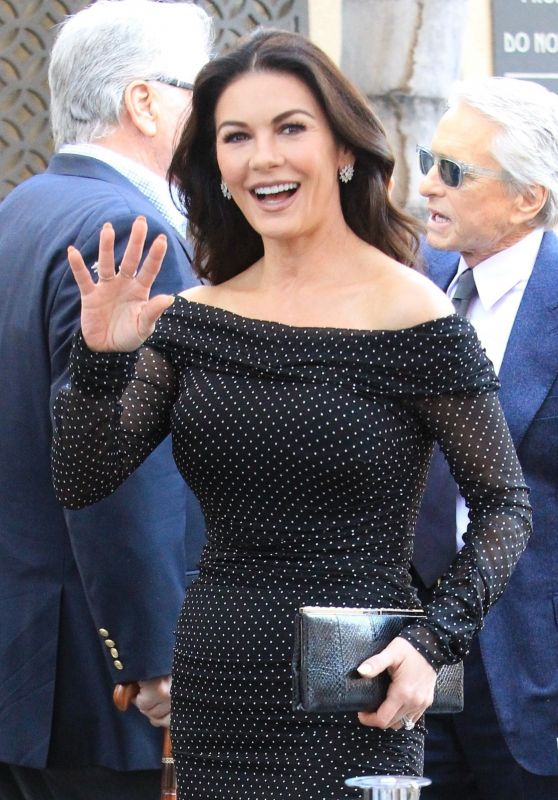 Catherine Zeta-Jones - Michael Douglas Honored With a Star on the Hollywood Walk of Fame 11/06/2018