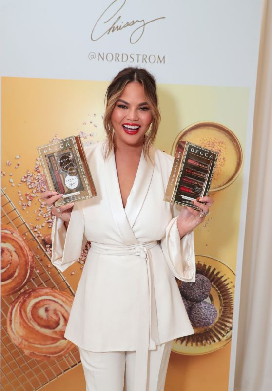 Chrissy Teigen - Launch of Her BECCA X Chrissy Cravings Collection in LA