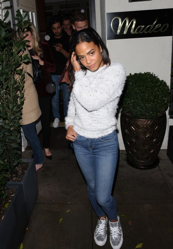 Christina Milian Leaving Madeo Restaurant in Beverly Hills 11/21/2018