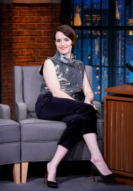 Claire Foy - Late Night with Seth Meyers in NYC 11/05/2018