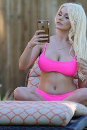Courtney Stodden in a Pink Bikini 11/07/2018