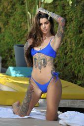 Darylle Sargeant in Blue Bikini - Ibiza, October 2018