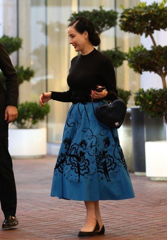 Dita Von Teese - Shopping in Beverly Hills 11/24/2018