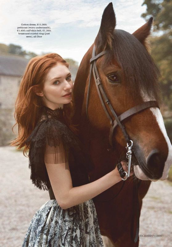 Eleanor Tomlinson - Photoshoot for Town & Country UK December 2018