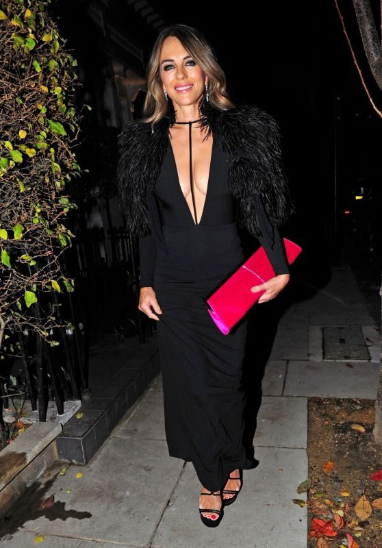 Elizabeth Hurley - Night Out in London 11/14/2018