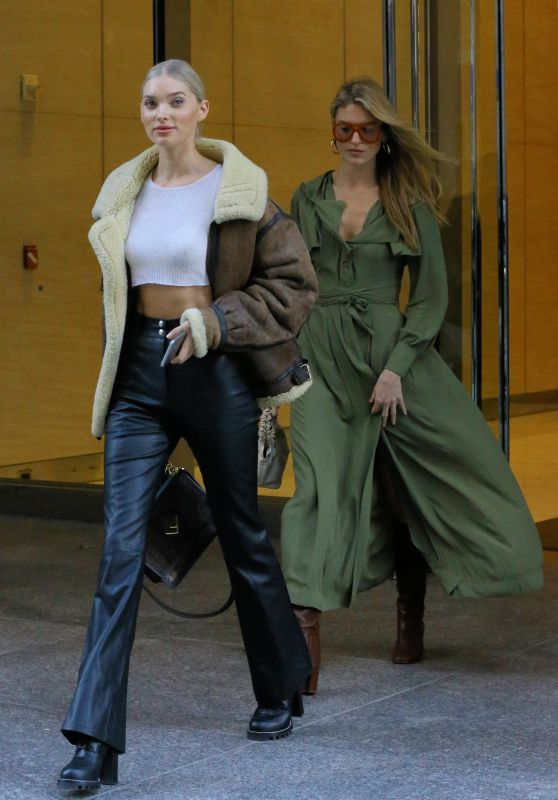 Elsa Hosk and Martha Hunt - Leave VS Headquarters After Fittings in NYC 11/03/2018