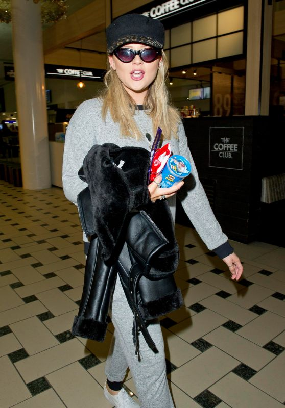 Emily Atack - Arriving at Brisbane Airport 11/12/2018