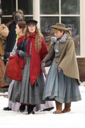 "Emma Watson and Saoirse Ronan - Filming Scenes For ""Little Women"" in Harvard 11/05/2018"