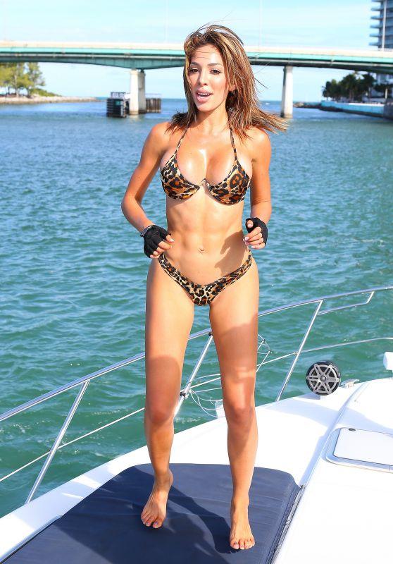 Farrah Abraham in Bikini - Angel Charters Boat in South Florida 10/24/2018