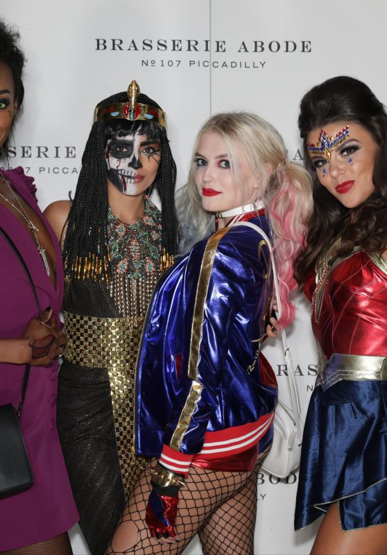 Faye Brookes, Lucy Fallon, Bhavna Limbachia & Victoria Ekanoye at the Mirror Ball Halloween Ball in Manchester