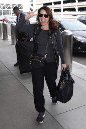 Fran Drescher at LAX Airport in Los Angeles 11/07/2018