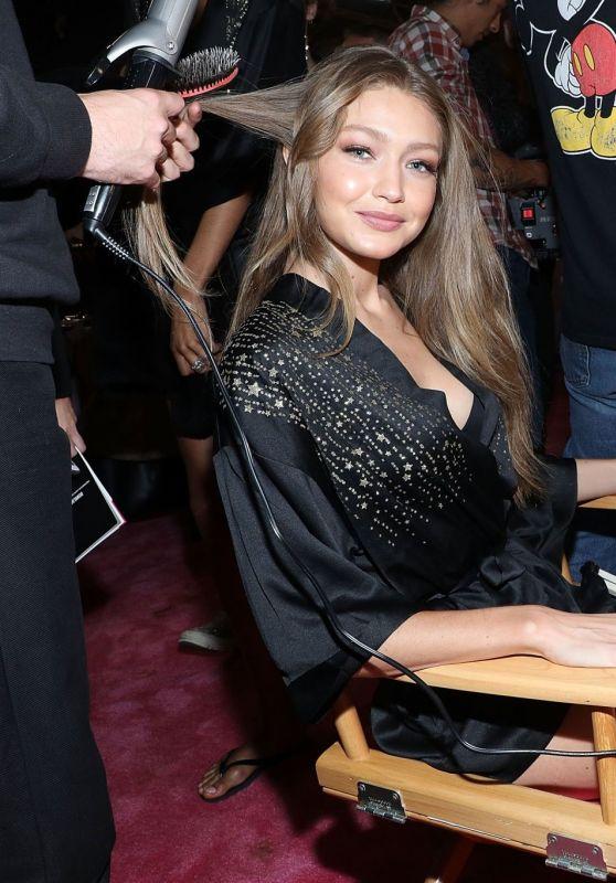 Gigi Hadid – 2018 Victoria's Secret Fashion Show Backstage in NYC