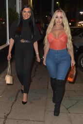 Holly Hagan Night Out With Abbie Holborn 11/18/2018